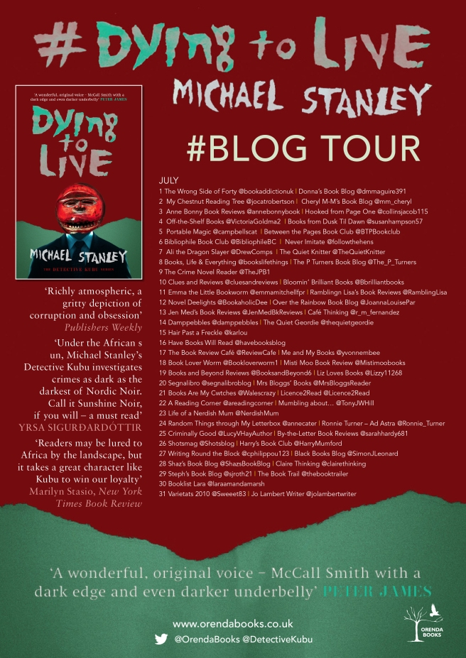 dying to live blog tour poster